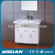 High Gloss Painting Make Up Vanity Set Waterproof PVC Bathroom Vanity