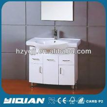 High Gloss Paint Make Up Vanity Set Vanidade de banheiro de PVC impermeável
