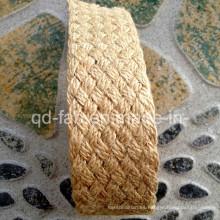 """Cinturón trenzado de color de encargo del yute del color de la naturaleza (JBW-1.5 """")"""