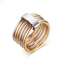 Edelstahl personalisierte Stack Gold Spinner Ring