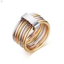 Bague personnalisée Spinner en or en acier inoxydable