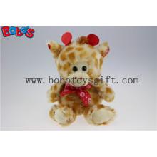 Prix de gros Peluche Girafe Peluche pelucheux avec ruban à lèvres