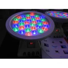 36W RGB LED redonda projector com controlador DMX