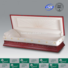 LUXES Chinese Exquisite Carved Casket Bordeaux-Loutes&Crane Caskets & Coffins
