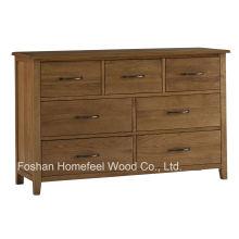 Cofre de armazenamento de gaveta de gaveta de madeira antiga (HC25)