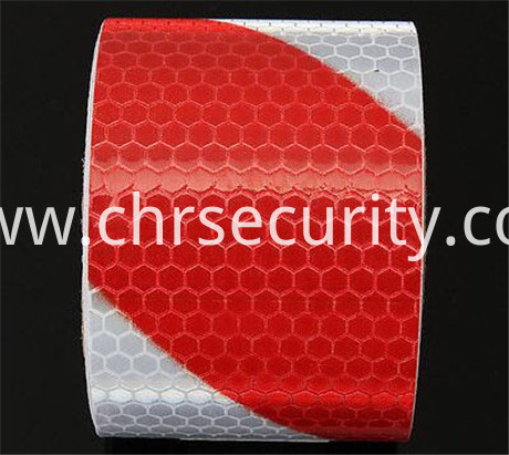 4300 slant reflective sheeting red white