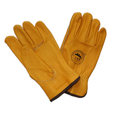 Golden Cow Grain Leather Safety Drivers Luvas