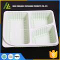 Caixa de almoço escolar de plástico de 3 compartimentos