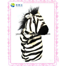 New Design Zebra Plush Puppet Toy (XDT-0132)
