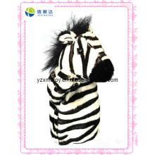 Novo design zebra brinquedo fantoche de pelúcia (xdt-0132)