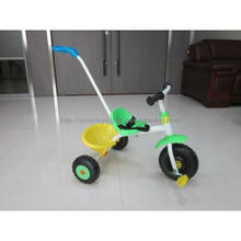 new model baby trike with free wheel, kid tricycle with push bar