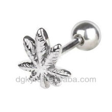 Surgical Steel Pot Folha Cartilagem Brincos piercing no corpo