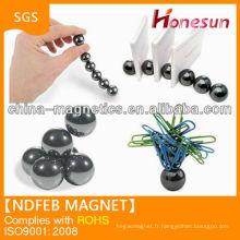 boules de magnétique aimant néodyme 5mm / aimant en néodyme fort de super