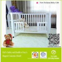 Muebles de bebé caliente de cuna con madera maciza