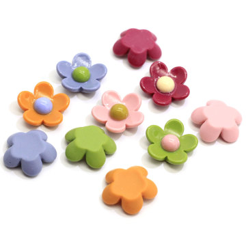100PCS Cute Colorful Resin Daisy Camellia Flower Cabochon Ornaments Scrapbooking Diy Hair Bow Center Decor