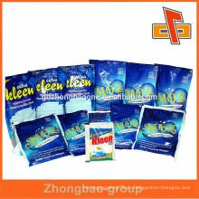 Personalizado impreso al por mayor Productos para el cuidado personal / productos de limpieza bolsa de paquete, bolsa de detergente para ropa