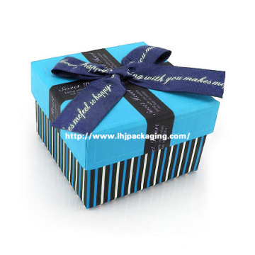 High Quality Chocolate Wedding Paper Box with Ribbon