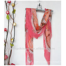 2013 Fancy plain polyester scarf