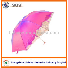 Stickerei Damen Regenschirm in magischen Stoff UV-proteat Regenschirm-Mode ändern