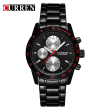 curren chronograph quartz watch business wristwatch
