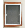 Roll up and down fiberglass net screen window