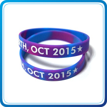 3D Design Rubber Silicone Wristband with Printing Logo