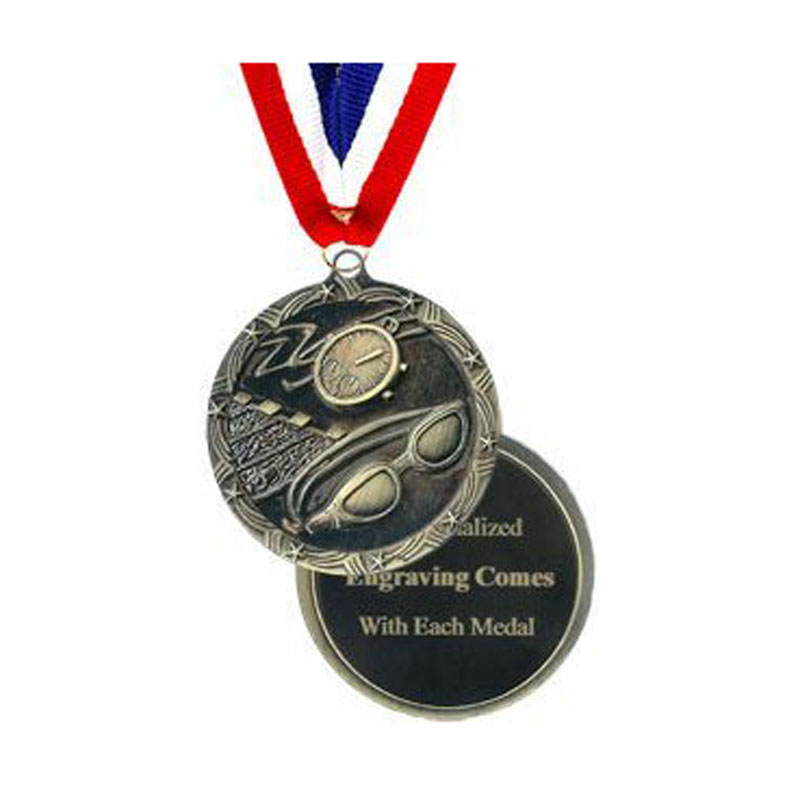 Swimming Medal Engraved Economy Style