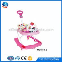 Caliente venta al aire libre empujador bebé caminante con música juguetes cinturón de seguridad