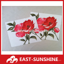 picture transfer color printed bulk microfiber eyeglass cleaning cloths