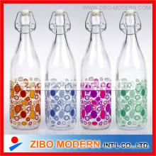 1 litro de garrafa de leite de vidro atacado