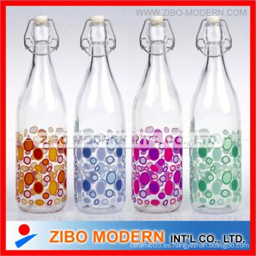 Botella de leche de cristal de 1 litro al por mayor