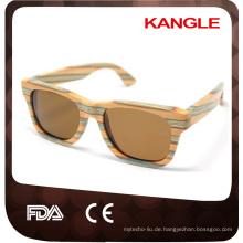 FDA CE Standard handgemachte polarisierte hölzerne Sonnenbrille