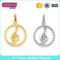 Fahshion Cyrstal Heart Charm, Red Rhinestone Metal Charm Pendant for Jewelry #B201