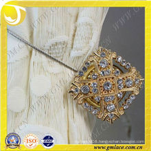 Golden Brown Metal Magnetic Clip Buckle With Acrylic Beads For Curtain Mouquito Net Tent