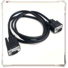 Hohe Qualität 1.8m 6ft Schwarz 15 Pin männlich zu weiblichen VGA Splitter Kabel