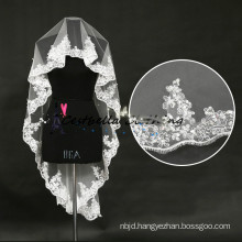 Hot Selling Lace Trimmed Bridal Veils Wedding Accessories bridal veils