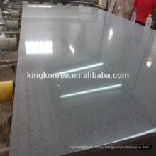 KKR mármol de cuarzo cultivado artificial, piedra de mármol sintética negra pura