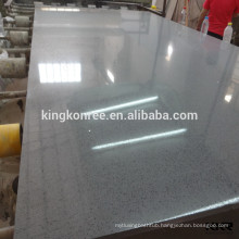 KKR artificial cultured quartz marble,pure black synthetic marble stone