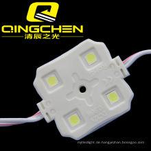 Fabrik Direktverkauf 5050 Wasserdichte 4 LEDs Einzelfarbe LED-Modul Weiß / Rot / Gelb / Blau Werbung Projektschilder