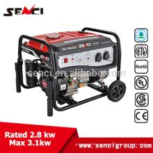 Gasolina o gasolina Aprobación CE Generador de la unidad generadora
