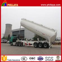 Tri-Axle 4 compartimentos de acero inoxidable inclinando el tanque de combustible semi remolque