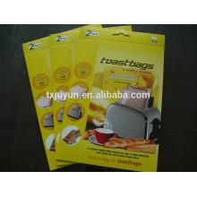 Bolsas para tostadoras de microondas, Revestimiento antiadherente PTFE