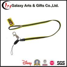 Custom Logo PVC Plastic Zipper Lanyard