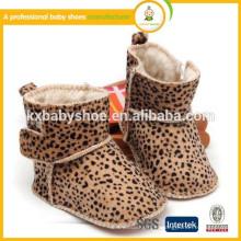 Nova chegada! 2015 botas de bebê de leopardo de inverno quente quente