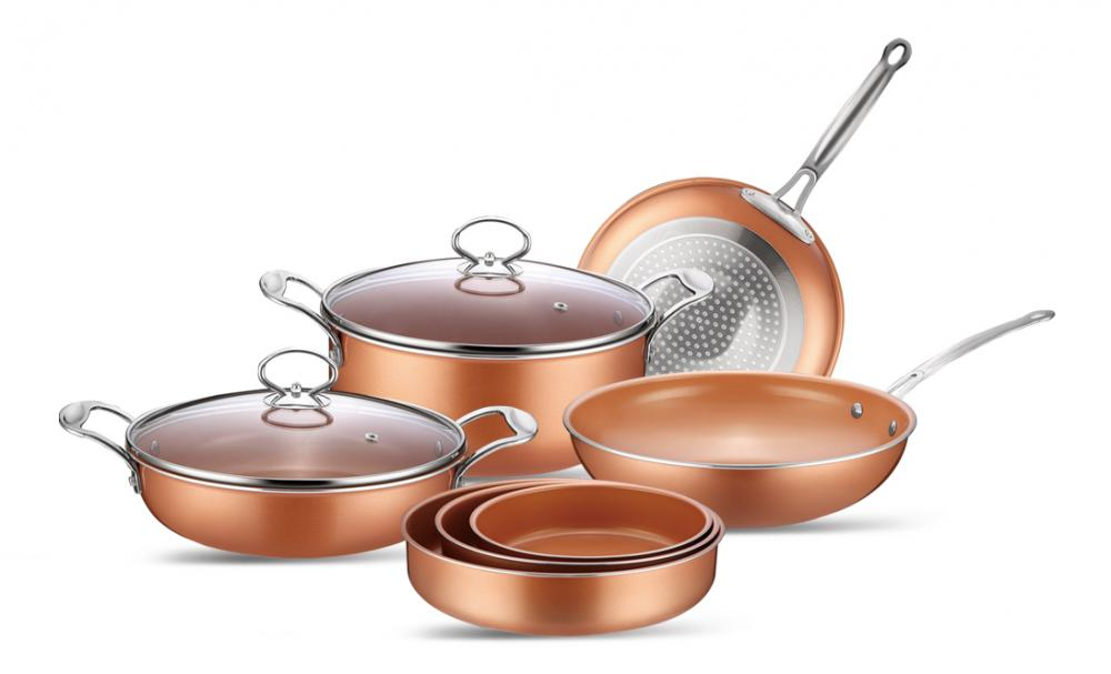 Copper Pan Aluminum Non-stick Coating Fry Pan