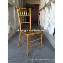 2015 Romantic Style Hot Sale Stacking Metal Chiavari Chair For Rent