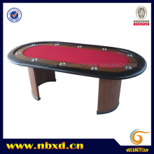 10 Person Poker Table with Wooden Leg (SY-T02)
