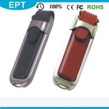Leder USB Flash Memory Stick mit benutzerdefiniertem Logo 1-64GB