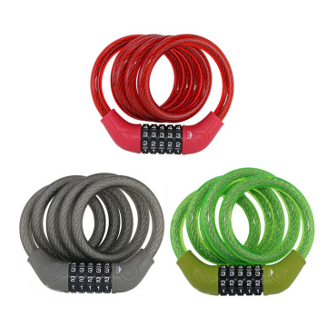 Yf0925 Bicycle Combination Cable Lock 5-Dials Code