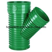 Molde de encaixe de injeção plástica - Tee de enviesamento